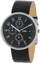 Alessi Men's AL6021 Stainless Steel Automatic Watch with Leather Band