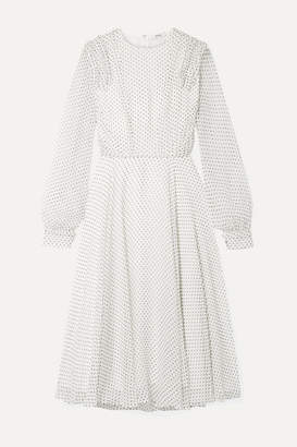 Jason Wu Ruffled Polka-dot Silk-voile Midi Dress - White