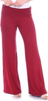 Brooke & Emma Women's Casual Pants Burgundy - Burgundy Palazzo Pants - Women & Plus