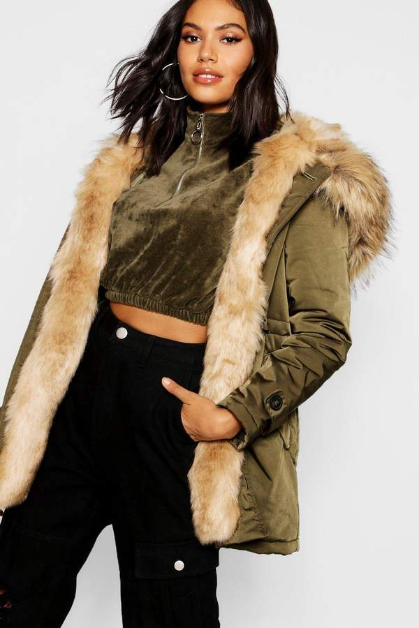 Boutique Faux Fur Parka