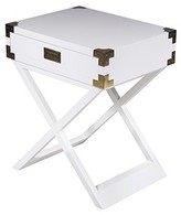 The Well Appointed House White Lacquer One Drawer Side Table