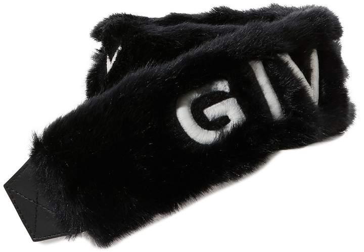 Givenchy Shearling bag strap