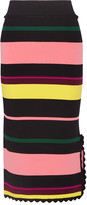 Apiece Apart Las Palmas striped stretch-knit midi skirt
