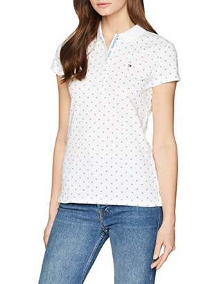 Tommy Hilfiger Women's New Chiara Print Pq Polo Ss Shirt,S