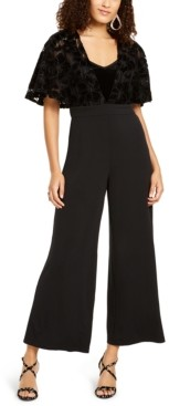 Thalia Sodi Lace-Mesh Surplice Jumpsuit, Created for Macy's