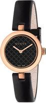 Gucci Women's Swiss Dimantissima Black Leather Strap Watch 27mm YA141501