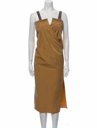 Zero Maria Cornejo V-Neck Midi Length Dress w/ Tags