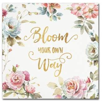 Your Own Trademark Fine Art Bloom way Canvas Wall Art