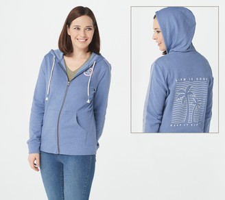 Life is Good Women's French Terry Full Zip Hoodie