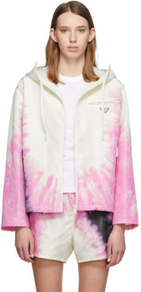 Prada SSENSE Exclusive White Silk Tie-Dye Jacket