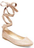 Steve Madden Bloome Suede Tie-Up Ballet Flats