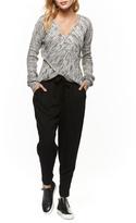 Dex Front Wrap Sweater