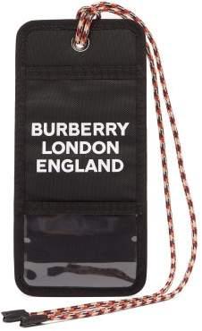 Burberry Logo-print Cardholder Necklace - Mens - Black
