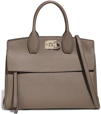 Salvatore Ferragamo The Studio Leather Top Handle Bag