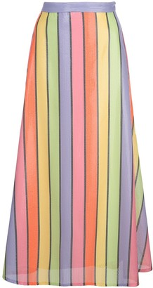Olivia Rubin High-Waist Striped Skirt