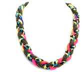 Neon String And Chain Necklace