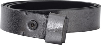 Lanvin Metallic Silver Belt