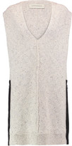 By Malene Birger Maryanni Satin-Trimmed Cotton-Blend Sweater