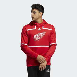 adidas Red WIngs Under the Lights Pullover Hoodie