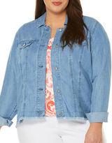 Rafaella Plus Plus Frayed Denim Jacket