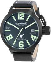 Ingersoll Men's Bison No. 6 IN8900BBK Leather Automatic Watch