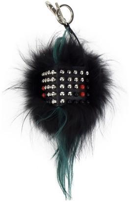 Fendi Black Fur Bag charms