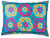 Found Object Hand-Embroidered Suzani Pillow