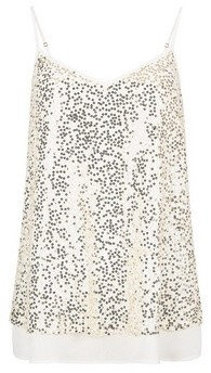 Dorothy Perkins Womens Ivory Lace Sequin Camisole Top, Ivory
