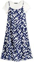 Sequin Hearts 2-Pc. Printed Slip Dress & T-Shirt, Big Girls (7-16)