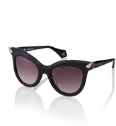 Vivienne Westwood Black Diamante Horn Sunglasses VW871S-1SBL
