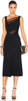 Roland Mouret Clairvale Viscose & Layered Lace Dress