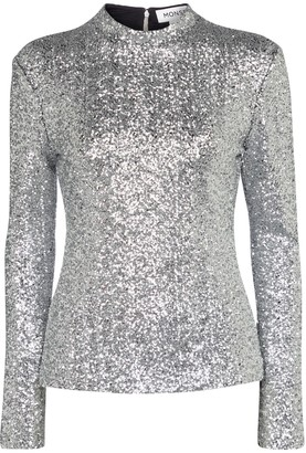 Monse Sequinned top