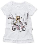 DKNY Girls 4-6x) Biker Chic Tee