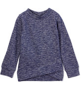 Celebrity Pink Navy Space-Dye Bow-Back Sweater - Girls