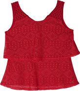 JCPenney BY AND BY GIRL by&by Girl Tiered Crochet Top - Girls 7-16