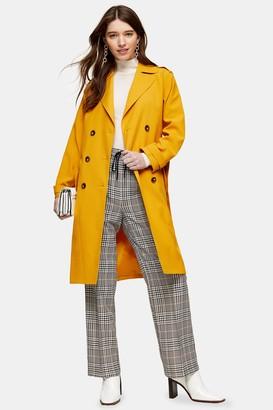 Topshop Womens Mustard Trench Coat - Mustard