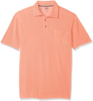 Izod Men's Saltwater Seaport Short Sleeve Solid Polo