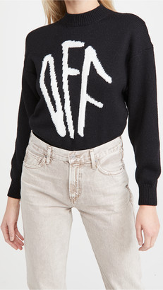 Off-White Off White Graffiti Crew Neck Sweater