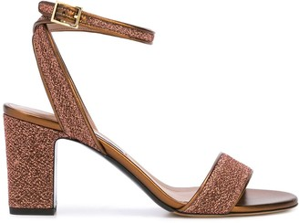 Tabitha Simmons Metallic-Effect 75mm Strappy Sandals