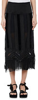 Dries Van Noten Women's Sloane Embellished Cotton-Silk Midi-Skirt