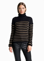 A.L.C. Elisa Lurex Stripe Turtleneck Sweater