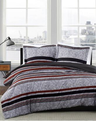 London Fog Warren Stripe Comforter Set