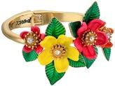 Betsey Johnson Tropical Mixed Flower Hinged Bangle Bracelet Bracelet