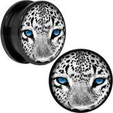 Body Candy Anodized Steel White Leopard Eyes Screw Fit Plug Set 20mm