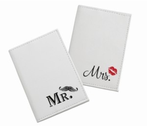 Lillian Rose Mustache and Red Lips Passport Covers