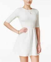 B. Darlin Juniors' Textured Mesh-Back Fit & Flare Dress