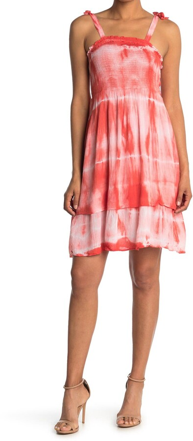Thumbnail for your product : Angie Smocked Top Tie Dye Dress