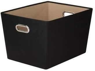 Honey-Can-Do Large Decorative Black Storage Tote