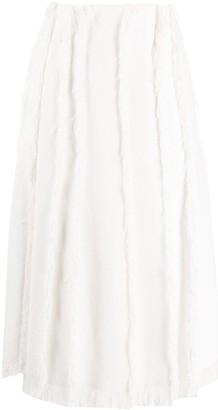Emilio Pucci Frayed Midi Skirt
