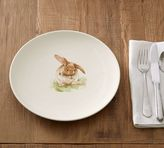 Pottery Barn Pasture Bunny Dinner Plate, Set of 4